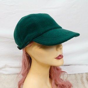 GAP 90s VTG Fleece Baseball Cap Hat Forest Green